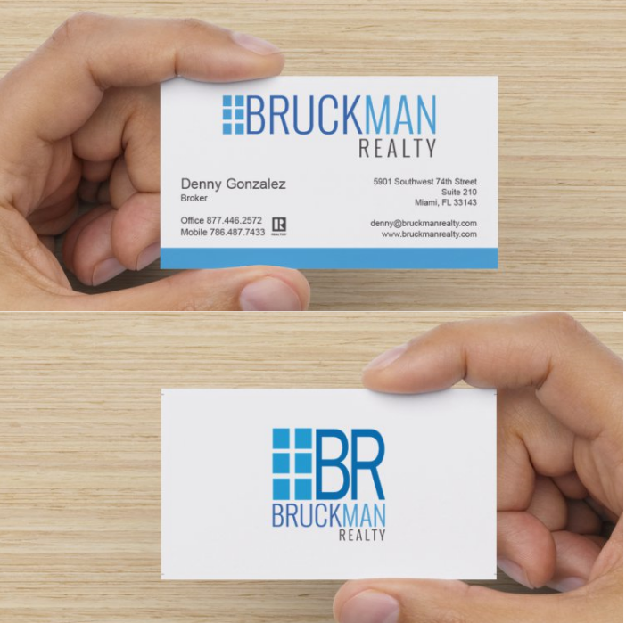 Deluxe Business Cards – 1000 ct – Bruckman Realty Store